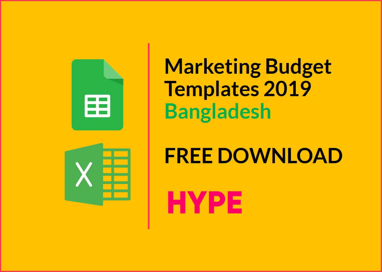 Marketing Budget Templates Bangladesh 2019