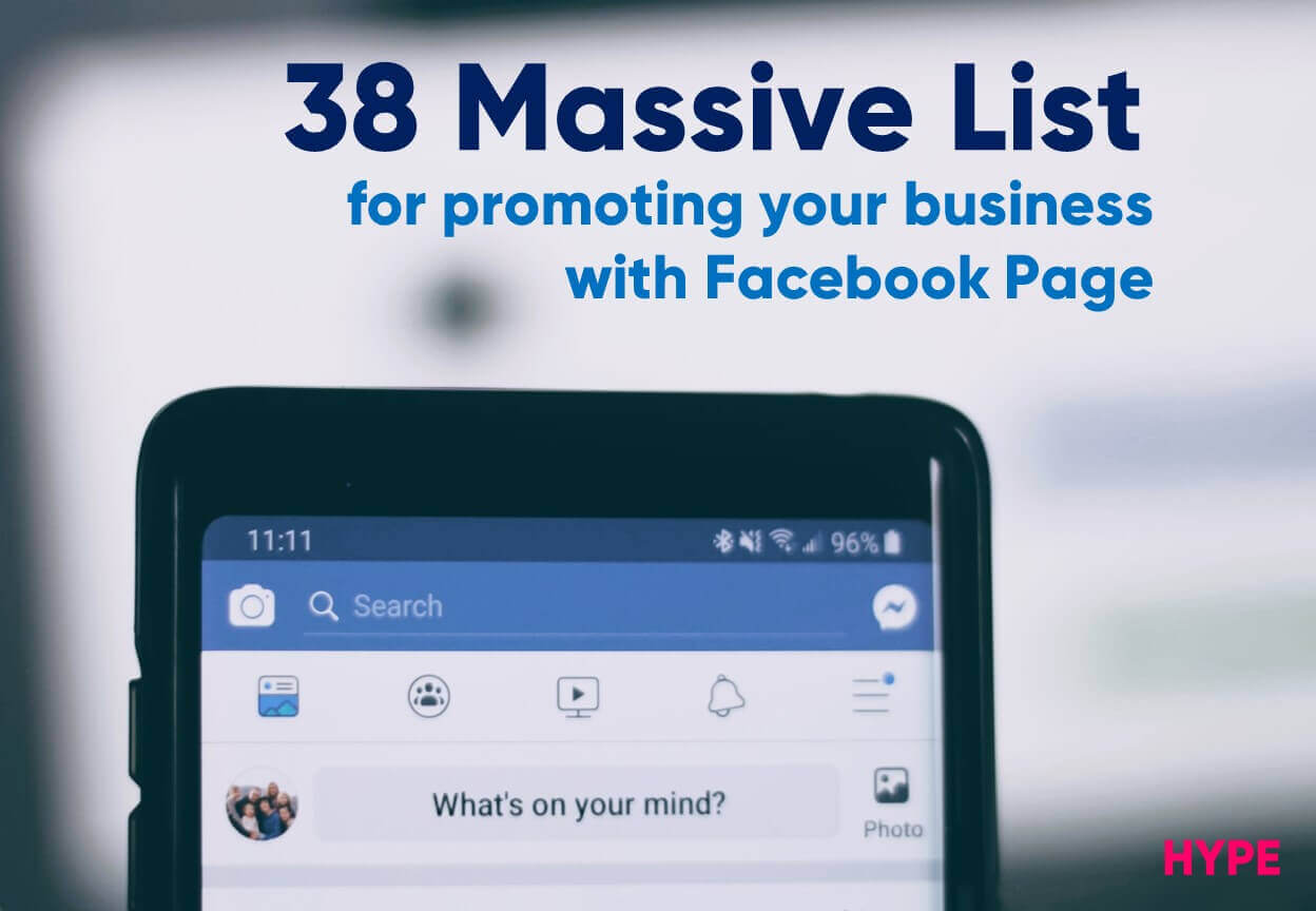 Facebook Business Page Promotion List