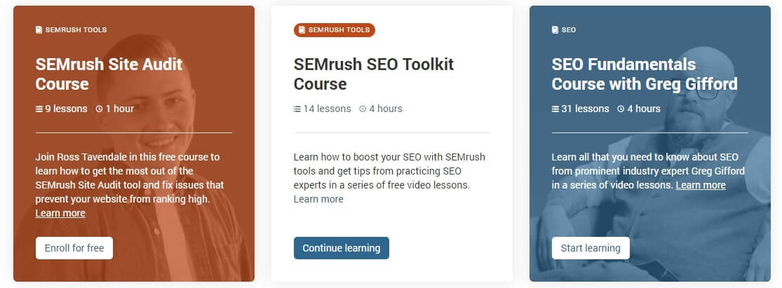 SEMRush Courses