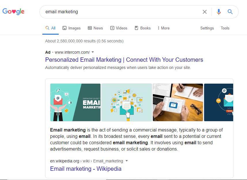 keyword research- email marketi ng