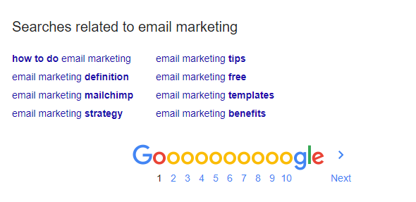 keyword- email marketing