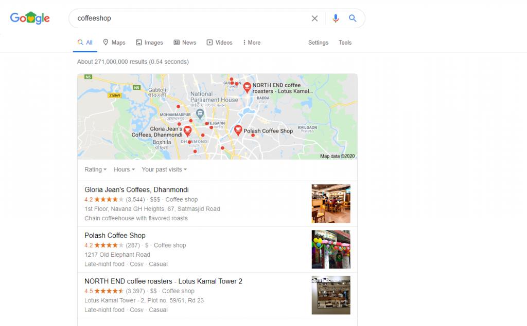 """coffee shop"" Bangladesh-location- google map"