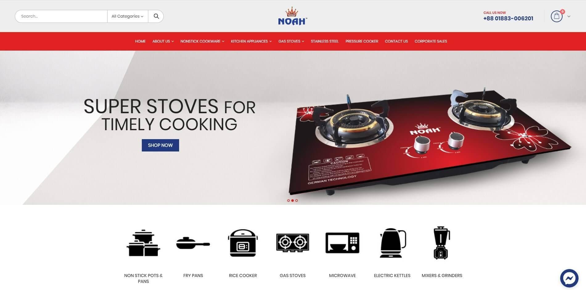 Noah Cookwares Site Front