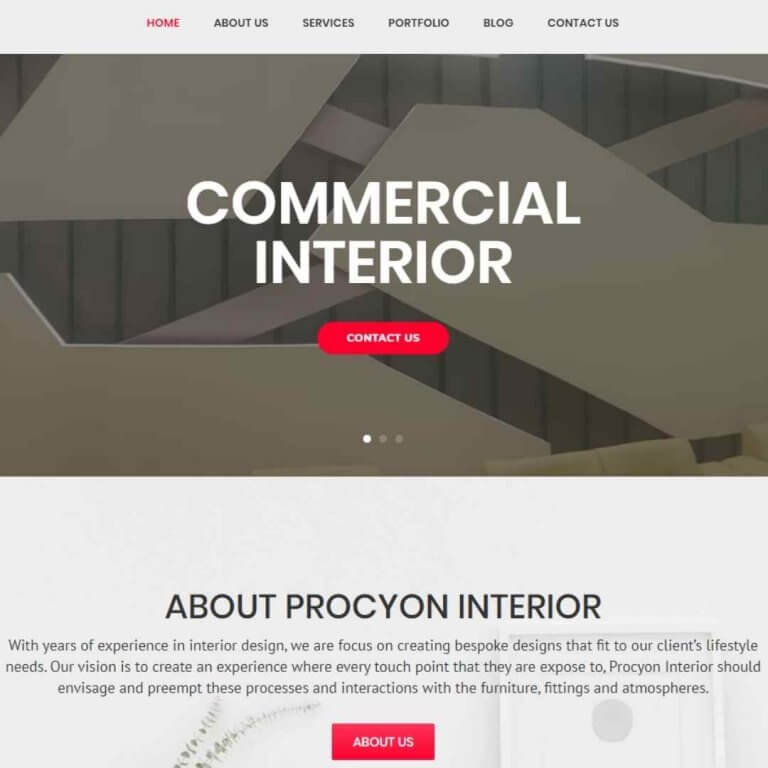 Interior Website Development Bangladesh