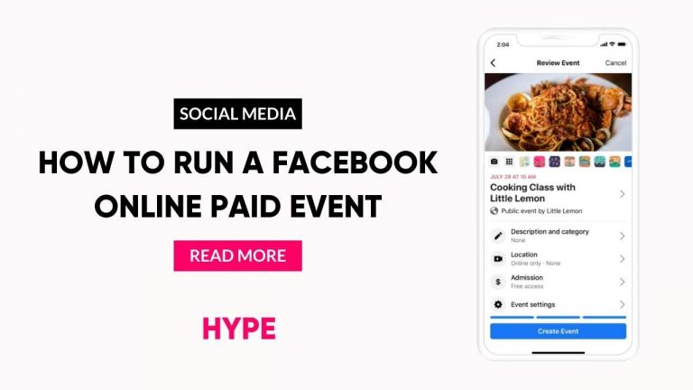 How to run a Facebook Online Paid Event