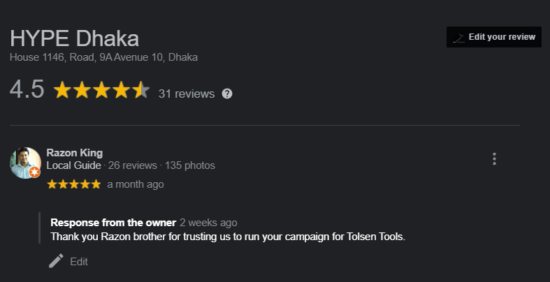 Tolsen Tools agency Review